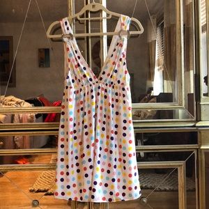 Alice + Olivia Poka Dot Silk Dress